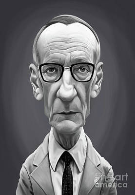 Poster featuring the digital art Celebrity Sunday - William Burroughs by Rob Snow