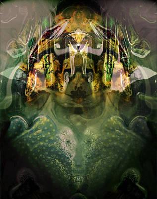 Poster featuring the digital art Celerian by Lynda Lehmann