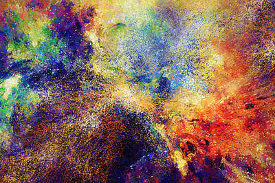 Celestial Explosion Abstract Poster by Georgiana Romanovna