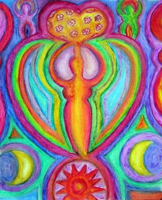 Celestial Goddess Of Love Poster