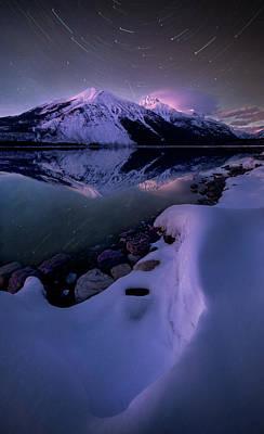 Poster featuring the photograph Celestial Reflection // Lake Mcdonald, Glacier National Park  by Nicholas Parker