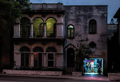 Poster featuring the photograph Cell Phone Shop Havana Cuba by Charles Harden