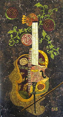 Cello Fantasy Poster by Lynda K Boardman