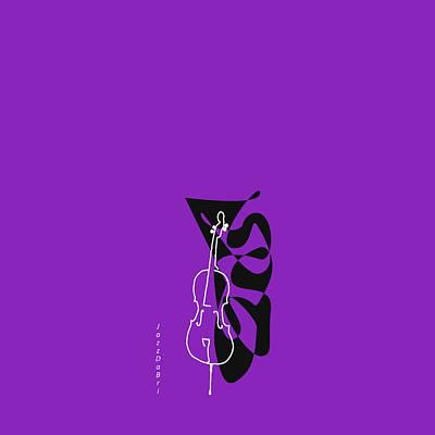 Cello In Purple Poster
