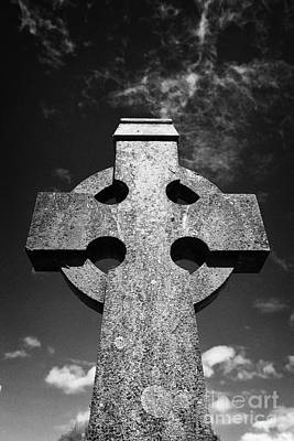 Celtic Cross In A Rural Irish Graveyard In Tydavnet County Monaghan Republic Of Ireland Poster by Joe Fox
