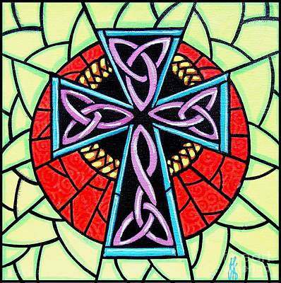 Poster featuring the painting Celtic Cross by Jim Harris
