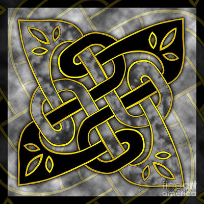 Poster featuring the mixed media Celtic Dark Sigil by Kristen Fox