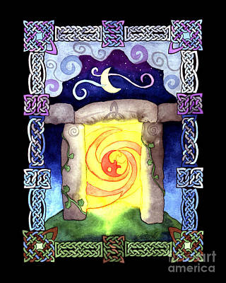 Poster featuring the painting Celtic Doorway by Kristen Fox