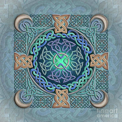 Poster featuring the mixed media Celtic Eye Of The World by Kristen Fox