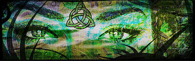 Celtic Eyes Poster