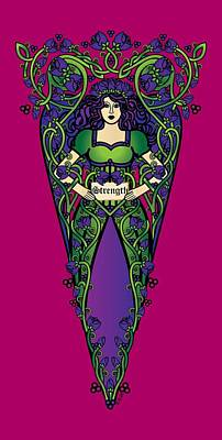 Celtic Forest Fairy - Strength Poster