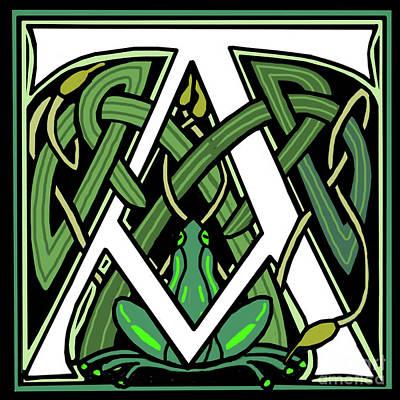 Celtic Frog Letter A Poster