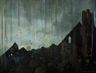 Poster featuring the painting Celtic Ruins by Ivana Westin