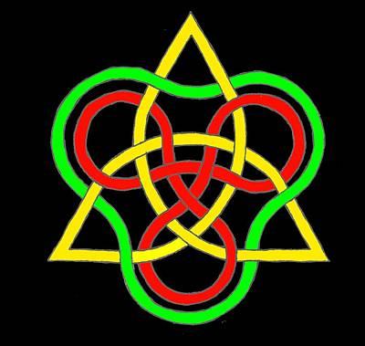 Celtic Tetrahydron Poster