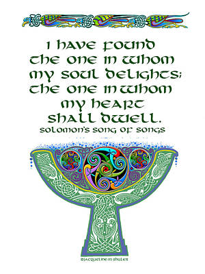 Celtic Wedding Goblet Poster