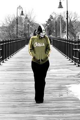 Celtics Girl Poster by Greg Fortier