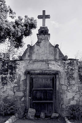 Cemetery At Mission Santa Barbara I Poster by Steven Ainsworth