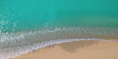 Poster featuring the photograph Cemetery Beach Aerial Panoramic by Adam Romanowicz