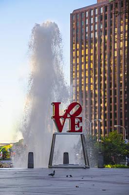 Center City Philadelphia - Love Park Poster