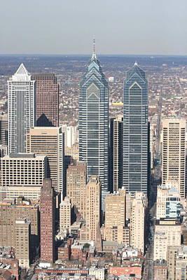 Center City Philadelphia Portrait Poster by Duncan Pearson