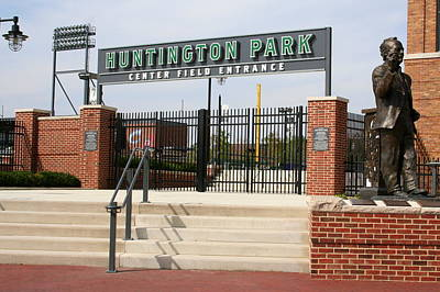 Center Field Entrance At Huntington Park  Poster by Laurel Talabere