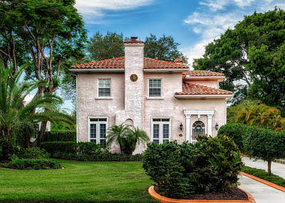 Florida Mediterranean Design Home - 1926 Poster by Frank J Benz