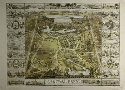 Poster featuring the photograph Central Park 1863 by Duncan Pearson