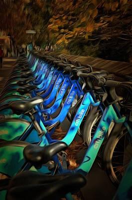 Central Park Bikes Poster by Trish Tritz