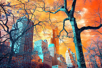 Central Park Pop Art Poster by John Rizzuto