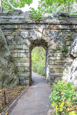 Central Park Ramble Archway Poster by A New Focus Photography