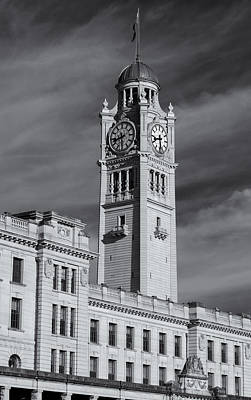 Central Station Clock Tower Poster by Nicholas Blackwell