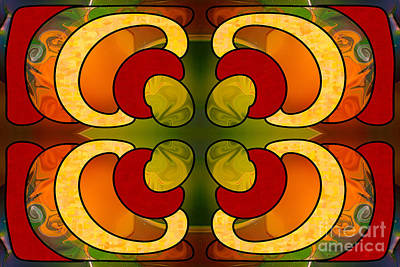 Centrally Located Abstract Art By Omashte Poster
