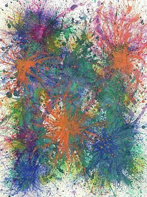 Cerebral Rhapsody During A Neurofeedback #582 Poster by Rainbow Artist Orlando L aka Kevin Orlando Lau