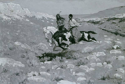 Ceremony Of The Fastest Horse Poster by Frederic Remington