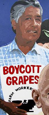 Cesar Chavez Poster by Roberto Valdes Sanchez