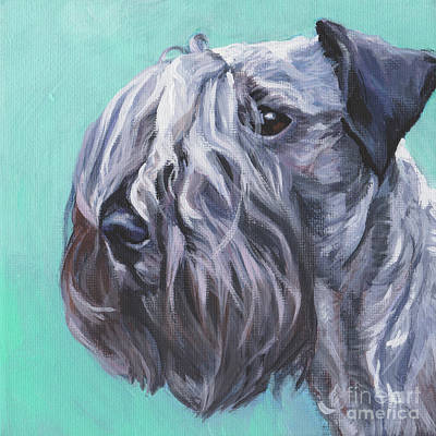 Poster featuring the painting Cesky Terrier by Lee Ann Shepard