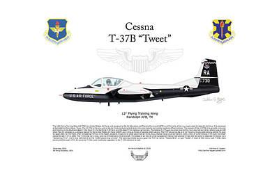 Cessna T-37b Tweet Poster
