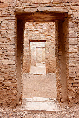 Chaco Canyon Doorways 3 Poster by Carl Amoth