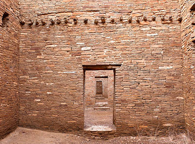Chaco Canyon Doorways 5 Poster by Carl Amoth