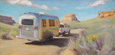 Chaco Canyon Glamping Poster by Elizabeth Jose