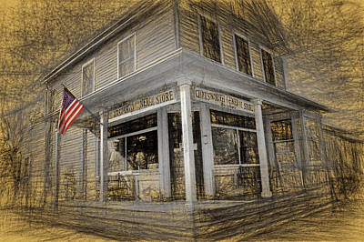 Chadsworth General Store Chatsworth New Jersey Poster by Geraldine Scull