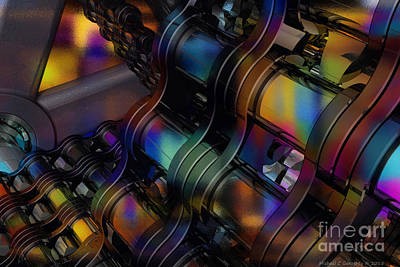 Chain And Sprockets - Amcg -  Macro 12 30 X 20 Poster by Michael Geraghty