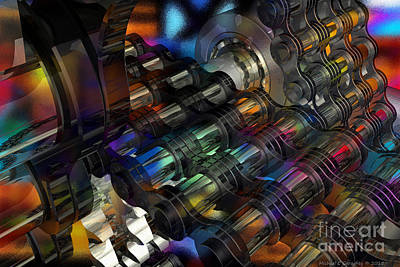 Chain And Sprockets - Amcg -  Macro 16 30 X 20 Poster by Michael Geraghty