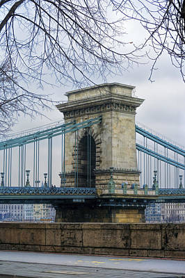 Chain Bridge Pier Poster by Joan Carroll