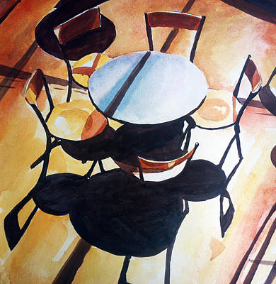Chairs And Shadows Poster by Zlatko Music