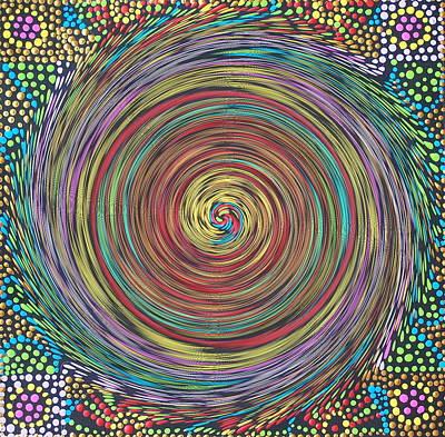 Chakra Swirl Poster