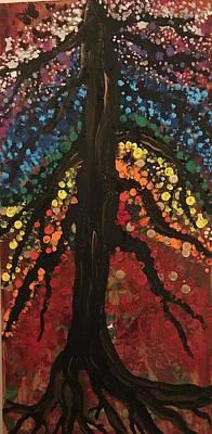 Chakra Tree Poster