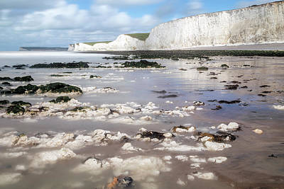 Chalk Cliffs Seven Sisters - England Poster