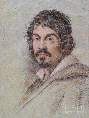 Chalk Portrait Of Caravaggio Poster by Celestial Images
