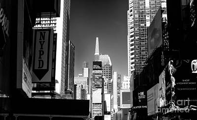 Poster featuring the photograph Challenges In Times Square by John Rizzuto
